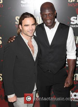 Dustin Clare and Peter Mensah - Spartacus: War Of The Damned Premiere New York City NY USA Thursday 24th January...