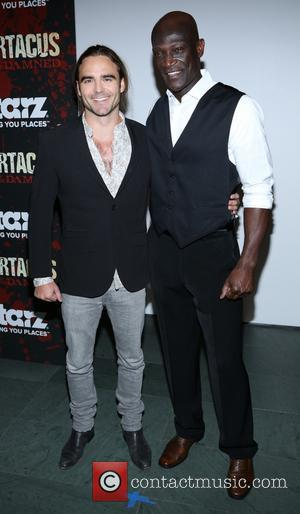 Dustin Clare and Peter Mensah - Spartacus: War Of The Damned New York United States Thursday 24th January 2013