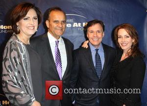 Ali Torre, Joe Torre, Bob Costas and Jill Costas