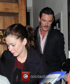 Anna Friel and Luke Evans - Celebrities leaving the Vaudeville Theatre London United Kingdom Friday 25th January 2013