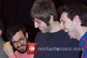 Simon Bird, James Buckley and Blake Harrison