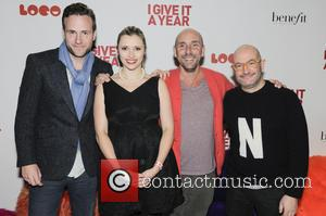 Rafe Spall, Denise Hicks, Dan Mazer and Boyd Hilton - BFI I Give It a Year Premiere London England United...