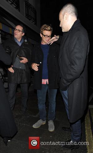 Simon Baker - Celebrities leaving Little House restaurant London United Kingdom Saturday 26th January 2013