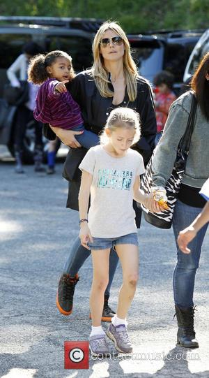Heidi Klum, Daughter Lou and Leni