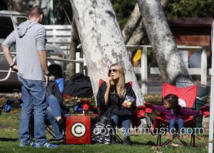 Heidi Klum, Daughter Lou and Martin Kristen