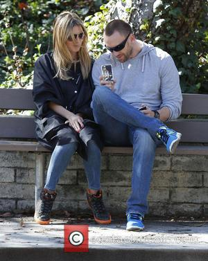 Heidi Klum and Martin Kristen - Heidi Klum enjoys a day out at the park with her children and boyfriend...