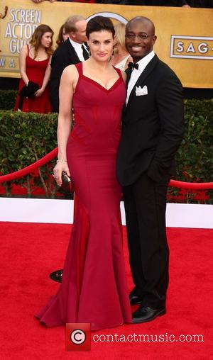 Idina Menzel and Taye Diggs - 19th Annual Screen Actors Guild (SAG) Awards held at the Shrine Auditorium - Arrivals...