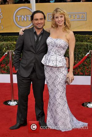 Johnny Galecki and Kelli Garner - 19th Annual Screen Actors Guild (SAG) Awards Los Angeles California United States Sunday 27th...