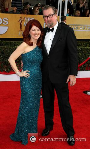Kate Flannery and Chris Haston