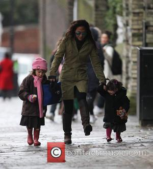 Myleene Klass, Hero Harper Quinn and Ava Bailey Quinn
