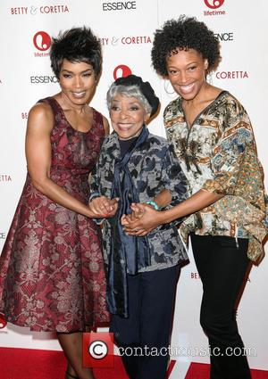 Angela Bassett, Ruby Dee and Cherise Booth - Premiere of 'Betty & Coretta' New York City USA Monday 28th January...