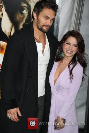 Sarah Shahi and Jason Momoa - New York premiere of