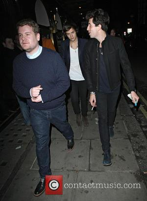 James Corden, Harry Styles and Nick Grimshaw