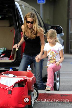 Denise Richards - Denise Richards spends some quality time with her daughters Los Angeles California United States Friday 1st February...