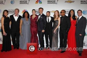 Tony Goldwyn, Katie Lowes, Jeff Perry, Writer/producer Shonda Rhimes, Actors Bellamy Young, Guillermo Diaz, Darby Stanchfield, Columbus Short, Ceo Of Smith, Company Judy Smith and Joshua Malina