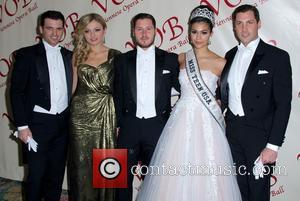 Tony Dovolani, Lina Dovolani, Val Chmerkovskiy, Miss Teen Usa Logan West and Maksim Chmerkovskiy