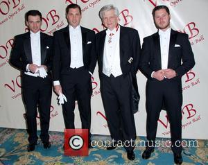 Tony Dovolani, Maksim Chmerkovskiy, Hans-Peter Manz and Val Chmerkovskiy