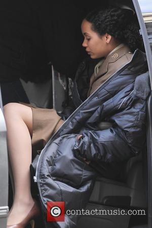 Madeleine Mantock - Tom Cruise on the film set of new movie 'All You Need Is Kill' London United Kingdom...
