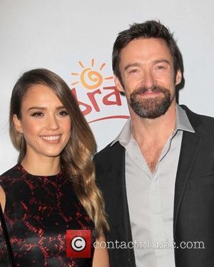 Jessica Alba and Hugh Jackman