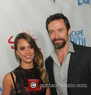 Jessica Alba and Hugh Jackman
