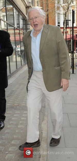 David Attenborough - Celebrities outside the BBC Radio 2 studios