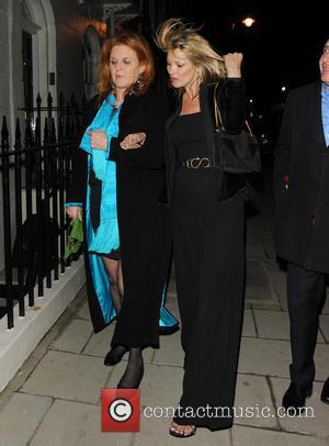 Sarah Ferguson, Duchess of York and Kate Moss - Celebrities leave China Tang restaurant London United Kingdom Monday 4th February...