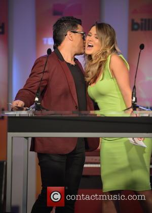 Elvis Crespo and Kimberly Dos Ramos - Latin Billboard Music Awards Nomination announcement Miami Florida United States Tuesday 5th February...