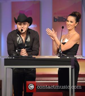 Gerardo Ortiz and Catherine Siachoque - Latin Billboard Music Awards Nomination announcement Miami Florida United States Tuesday 5th February 2013