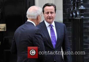 Prime Minister David Cameron and US Vice President Joe Biden - US Vice President Joe Biden outside 10 Downing Street...