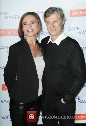 Lena Olin and Director Lasse Hallstrom - Premiere Of Relativity Media's 'Safe Haven' Hollywood California United States Tuesday 5th February...