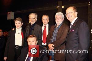 Sumner Redstone, George Lucus, Steven Spielberg, Elizabeth Daley and Max Nikias