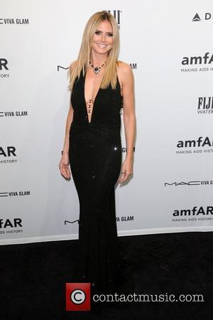 Heidi Klum at the AmFAR Gala