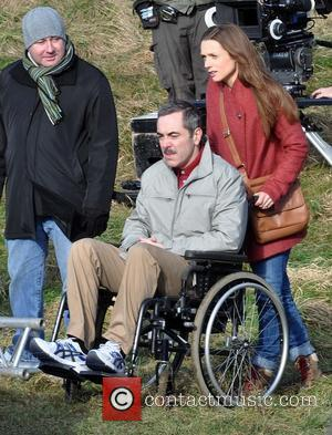 James Nesbitt and Kerry Condon - Actors on the film set of 'Gold' Dublin Ireland Wednesday 6th February 2013