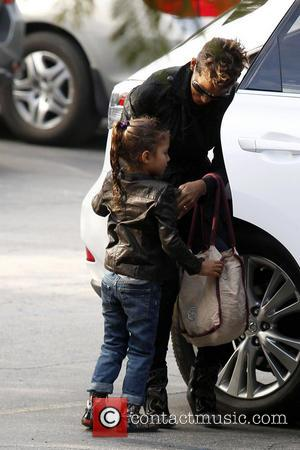 Halle Berry and Nahla Aubry - Halle Berry takes her daughter Nahla Aubry to school Los Angeles California United States...