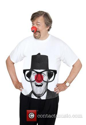 Stephen Fry - Celebrities join a host of famous faces to model this year's Dinosaur Red Nose and Comic Relief...