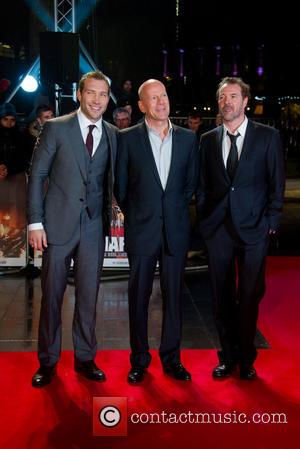 Jai Coutney, Bruce Willis and Sebastian Koch