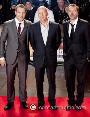 Jai Coutney, Bruce Willis and Sebastian Koch