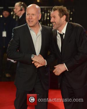 Bruce Willis and Sebastian Koch