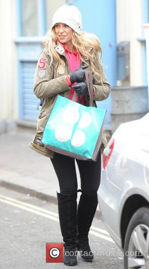 Josie Gibson - Josie Gibson leaving Channel 5 studios London United Kingdom Thursday 7th February 2013