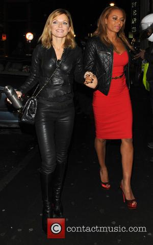 Geri Halliwell and Melanie Brown - Spice Girls at 'Viva Forever' London United Kingdom Thursday 7th February 2013