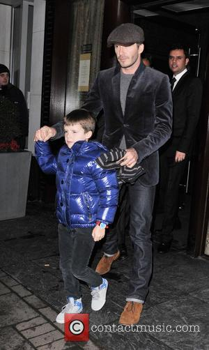 David Beckham and Cruz Beckham