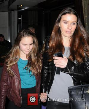 Tana Ramsay and Megan Ramsay - The Beckham family and Ramsay family depart Tamarind Restaurant New York City NY United...