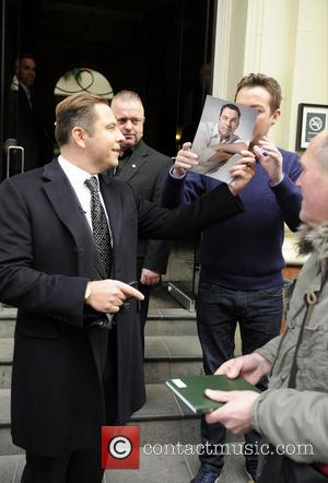 David Walliams and Stephen Mulhern - BGT judges leaving their hotel Birmingham United Kingdom Friday 8th February 2013