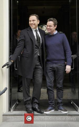David Walliams and Stephen Mulhern - BGT judges leaving their hotel Birmingham United Kingdom Friday 8th February 2013