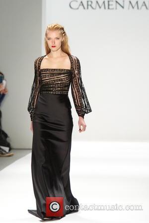 Model - Mercedes-Benz New York Fashion Week Autumn/Winter 2013 - Carmen Marc Valvo - Runway New York City,USA NY United...