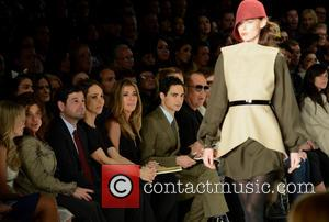Nina Garcia and Zac Posen - Mercedes-Benz New York Fashion Week Autumn/Winter 2013 - Project Runway - Front Row New...