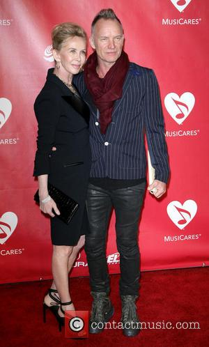 Sting and Trudie Styler - MusiCares Person of the Year Los Angeles California United States Friday 8th February 2013