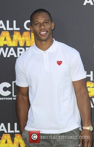 Victor Cruz - Cartoon Network Hall of Game Awards Santa Monica California United States Saturday 9th February 2013