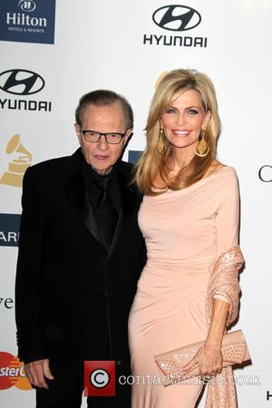 Larry King and Shawn Southwick King - Clive Davis & The Recording Academy's 2013 Pre-Grammy Gala Los Angeles California United...