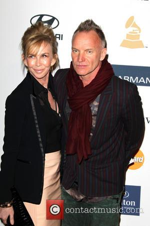 Trudie Styler and Sting - Clive Davis & The Recording Academy's 2013 Pre-Grammy Gala Los Angeles California United States Saturday...